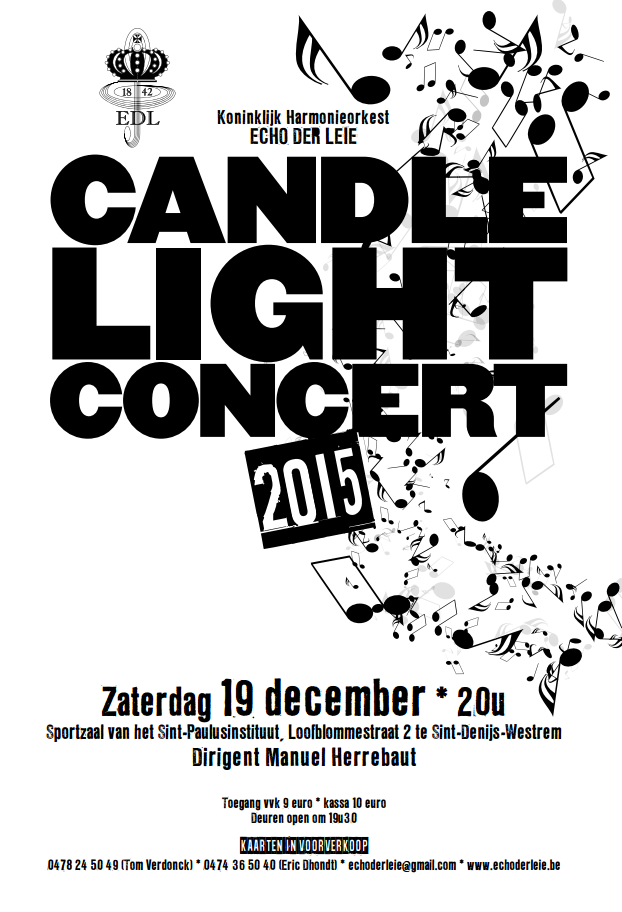 Affiche Candlelight Concert 2015